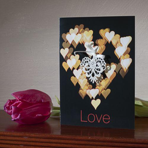 Bokeh & Lace Love Card